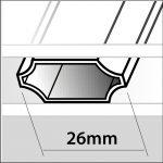 petit bois integre 26mm