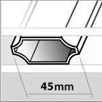 petit bois integre 45mm